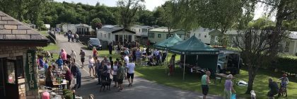 "A Yorkshire Dales holiday park brought charity cheer with a fundraising fete which had ""sustainability"" as its theme"