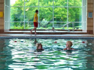 Staff can also unwind in the park's heated indoor pool