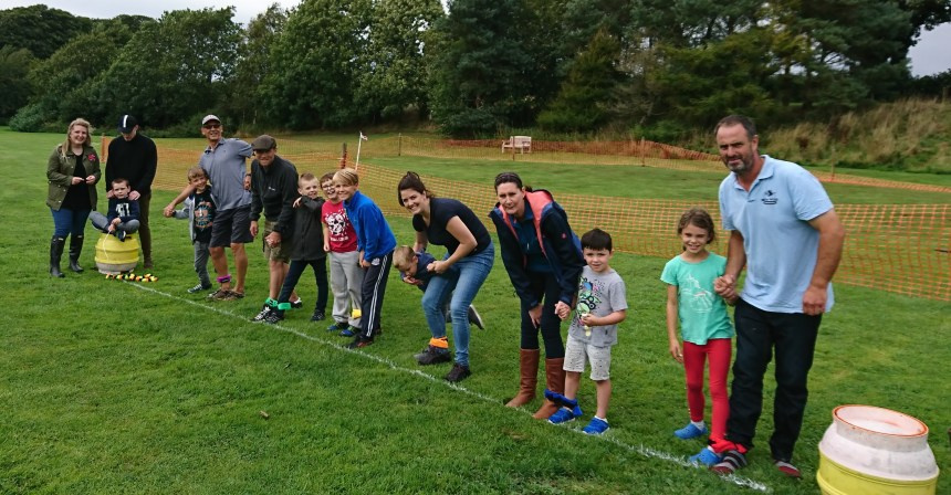 Game for a laugh: another three-legged race is about to start during Moss Wood's day of digital-free delights