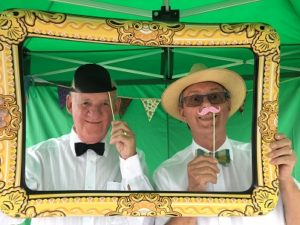 A pop-up photo booth helped swell the fundraising