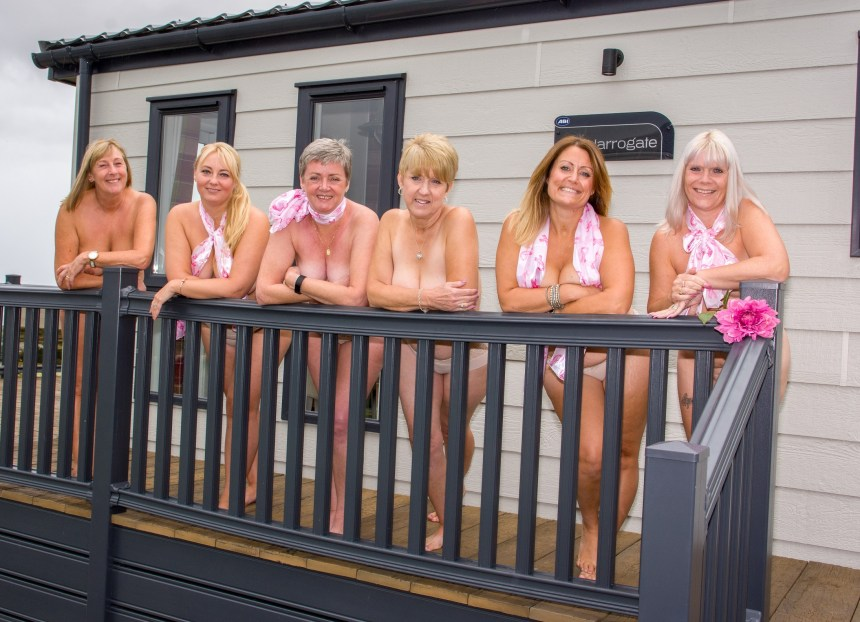 Naked ambitions: the friends at the park have already received over £2,000 of orders for their charity calendar