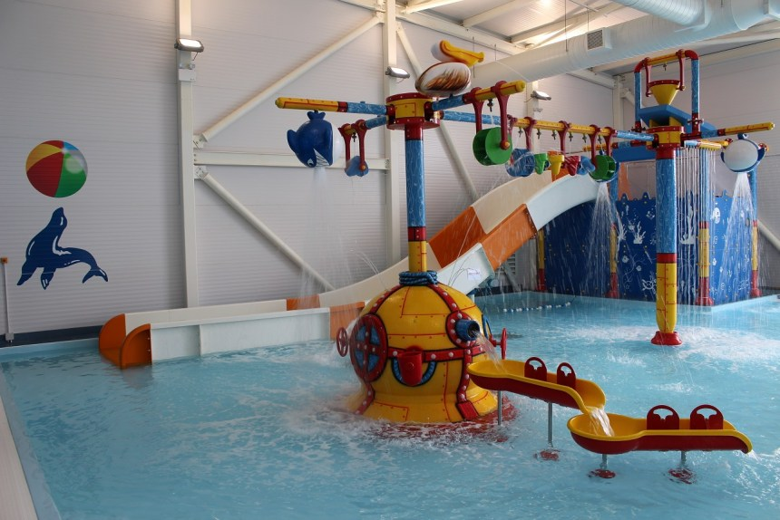 "Activities for all ages are amongst the park's line up of attractions, including (above) a newly opened ""splash zone"""