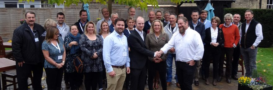 Best of British holiday park owners met for their annual conference in Ely, including the consortium's board members (front, from left) director James Cox, chairman Richard Legg, and directors Tara White and Keith Betton