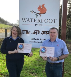 Two firsts for Michelle and Steven McAvoy from Waterfoot Caravan Park