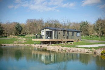 Luxury holiday lodges at the park range in price from £60,000 to £120,000