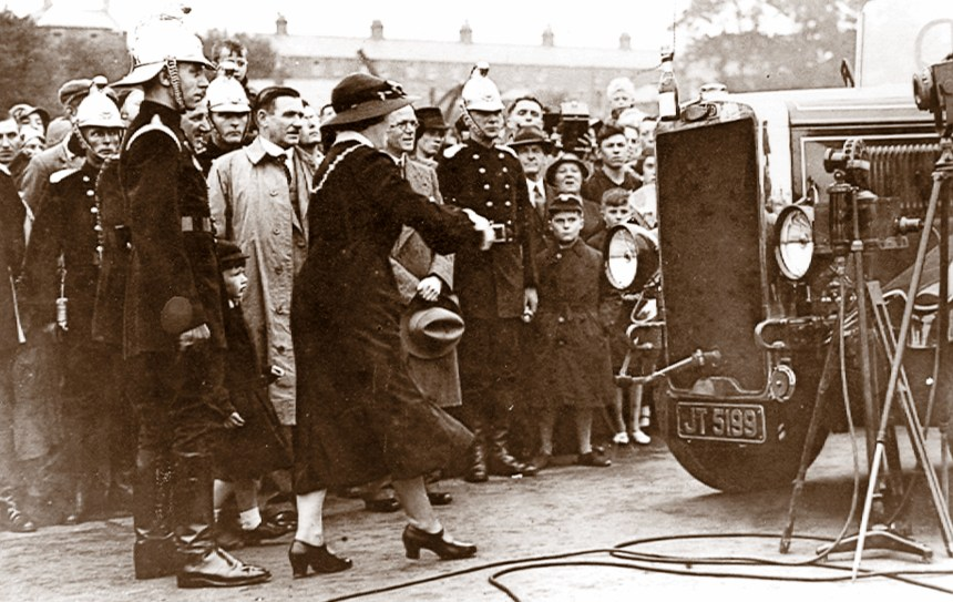 Flashback to 1936 when the Mayoress of Weymouth christened Barkis in a ceremony attended by the public and members of the local fire services. The Leyland engine, built at a cost of £1,585, saw action in the area over successive years