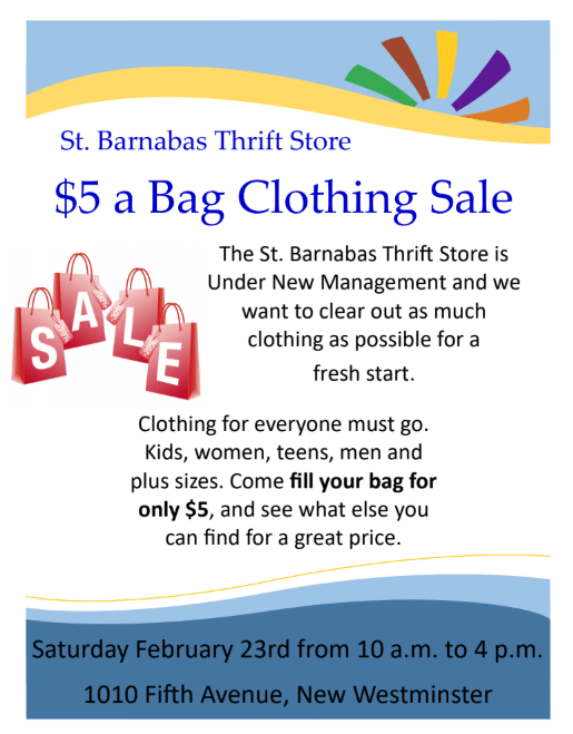 $5 bag sale