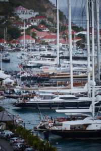 Outer harbor of Gustavia