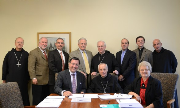 Members of the Board of Directors of the Saint Benedict Education Foundation met in November 2013 at Saint Vincent Archabbey.