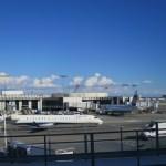 ロサンゼルス国際空港にて 海外旅行に使える財布を二つ