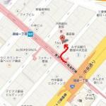 ココマイスター銀座一丁目店の駅からの行き方