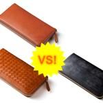 ココマイスター ラウンドファスナーの長財布の比較