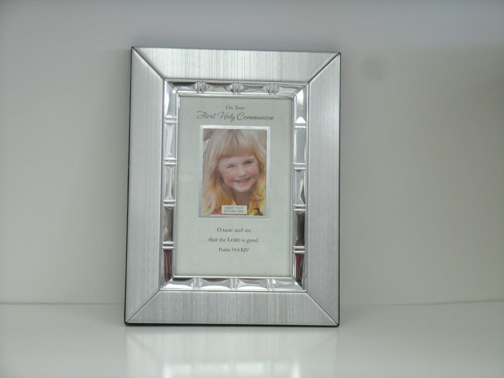 Girls Silver First Communion Frame St Bernard Books
