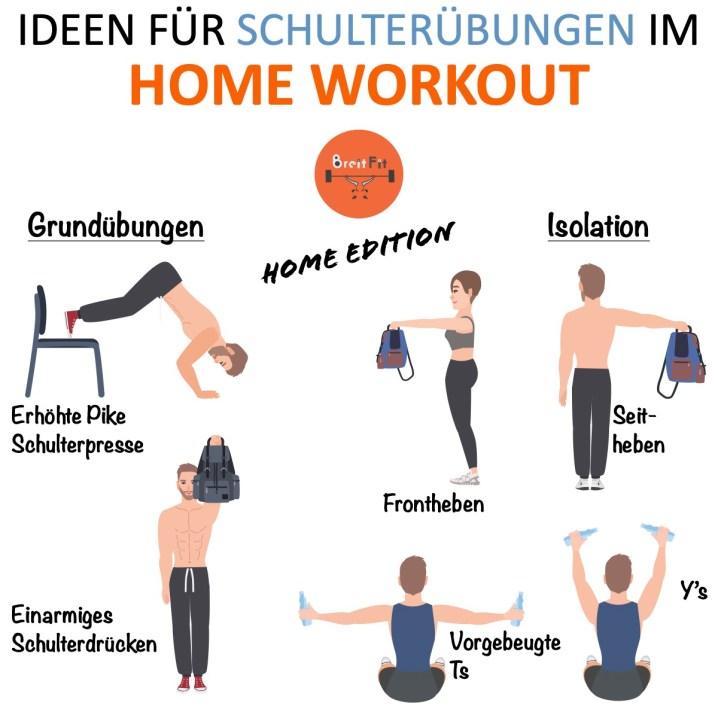 Illustration Schulterübungen für Zuhause