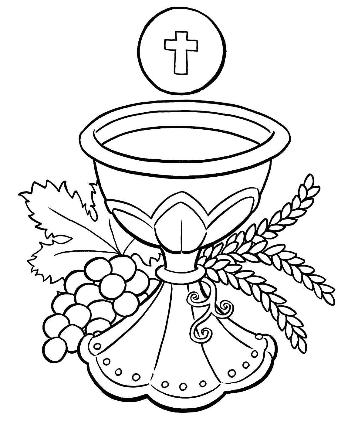 Free Printable Rosary Coloring Pages The Mysteries Of