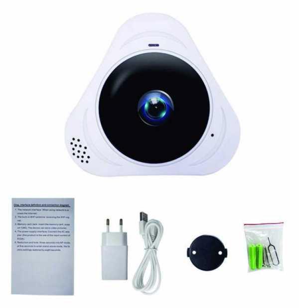 camera ghi âm siêu nhỏ IP VR