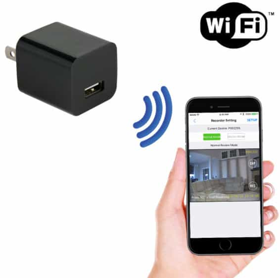 Camera IP Wifi cục sạc điện thoại không dây