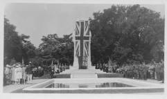 Unveiling of the Cenotaph in August 1927 - St. Catharines Museum