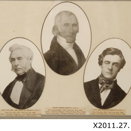 Photo collage of William Hamilton Merritt, Thomas Merritt