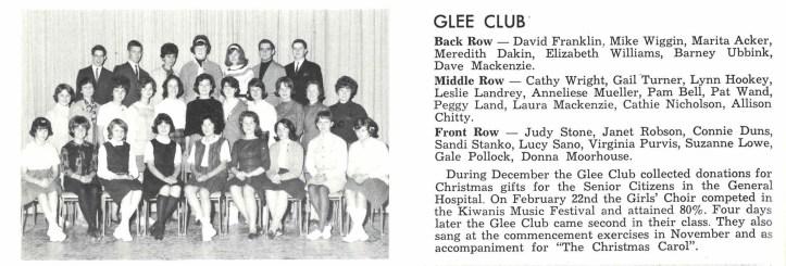 Sir Winston Churchill High School Glee Club, 1963/1964.