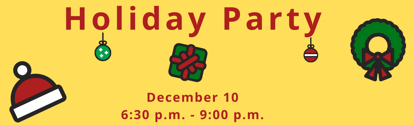 2018 Holiday Party, Awards, Book Swap, and Elections