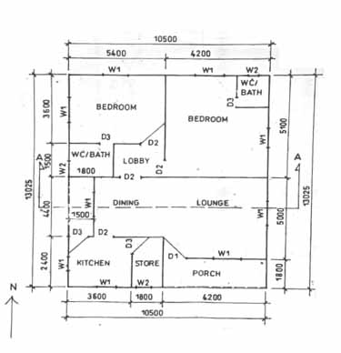 WASSCE Technical Drawing Past Question