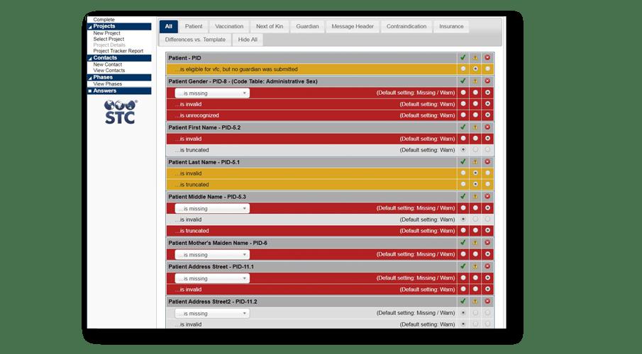 Example PHC Hub application page