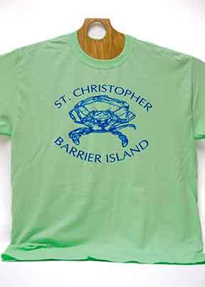 Barrier Island Crab T-Shirt Mint