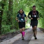 Two men doing the London2Cambridge Ultra Challenge