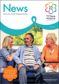 Front cover of Winter 16 St Clare Newsletter