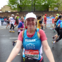A smiling runner