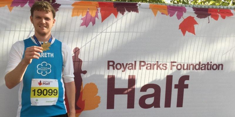 Royal Parks Half Marathon runner from Team St Clare
