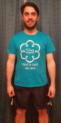 Andrew Speed in his London Marathon t-shirt