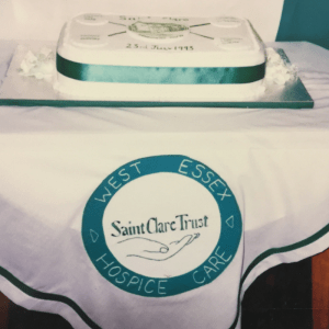 St Clare Trust cake at the launch of the Hospice