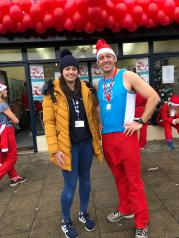 Photo 1 Ray Cogan at his final race – the St Clare Hospice Debden Santa Run, on 2nd December 2018