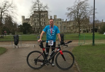 Photo 1 Ray Cogan completed the Ashridge Duathlon in January 2018