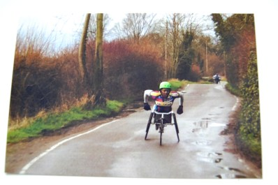 A wheelchair racer from the 2013 race