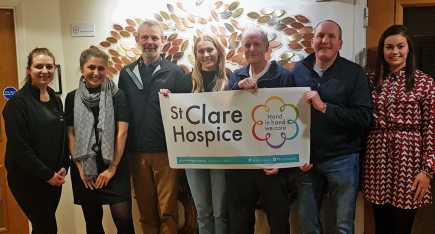 Participants on Team St Clare gather at the Hospice for an evening of all things London Marathon