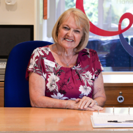 Gill Taylor, Shop Volunteer and Receptionist at St Clare, has also been shortlisted for and award