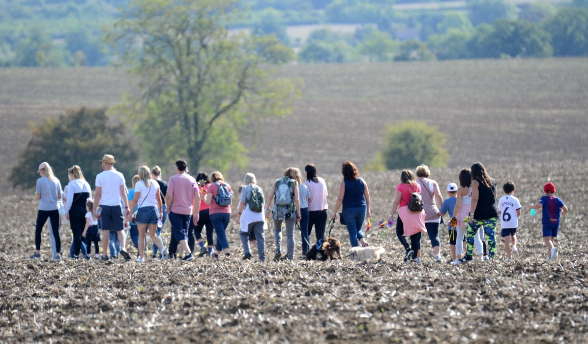 Photo 4 A group of walkers at St Clare Hsopice's Walking in Memory event on 15th September