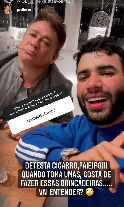 Poliana Rocha falou de encontro polêmico de Leonardo com Gusttavo Lima (Foto: Reprodução)