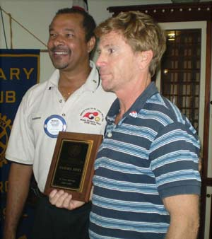 Stan Joines received Rotary Award