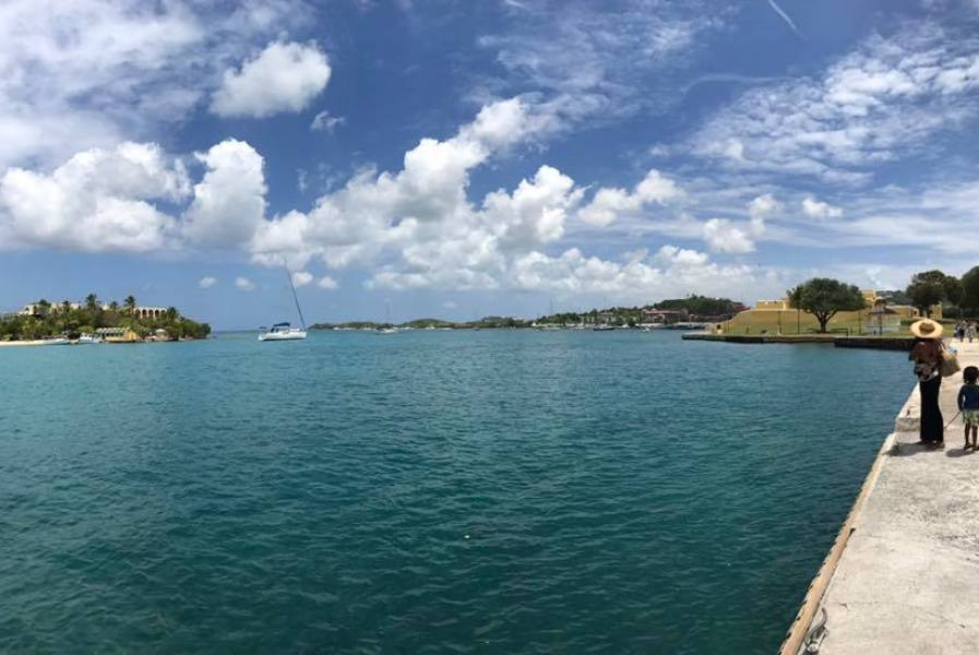 A stroll along the waterfront, Christiansted. (Chuck Munson photo)