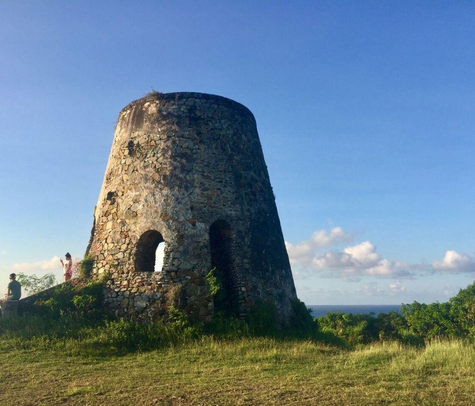 Sugar mill on north side of St. Croix. (Kelsey Nowakowski photo)