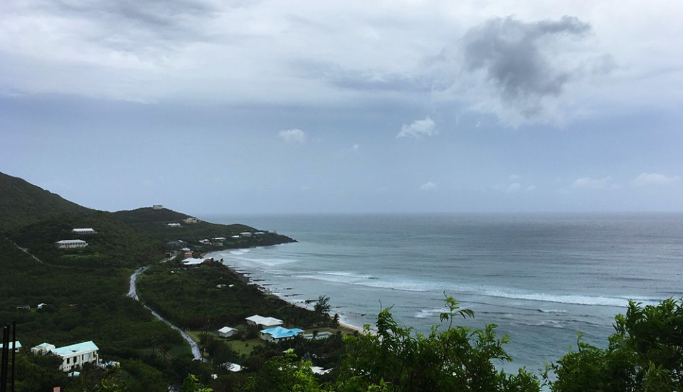 Morning on the south shore of St. Croix hours before the arrival of Hurricane Maria. (Marina Ricci photo)