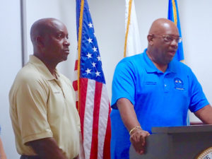 St. Croix Police Chief Winsbut McFarlande and Police Commissioner Delroy Richards discuss the arrests in a rape and car jacking case.
