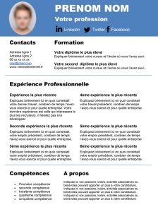 cv, modèle, template, lettre de motivation, curiculum, vitae, gratuit, free