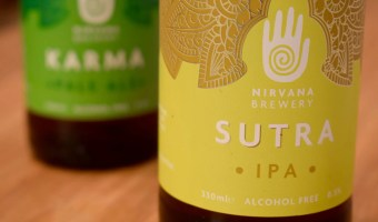 Two bottles of Nirvana Brewery beer - Karma and Sutra