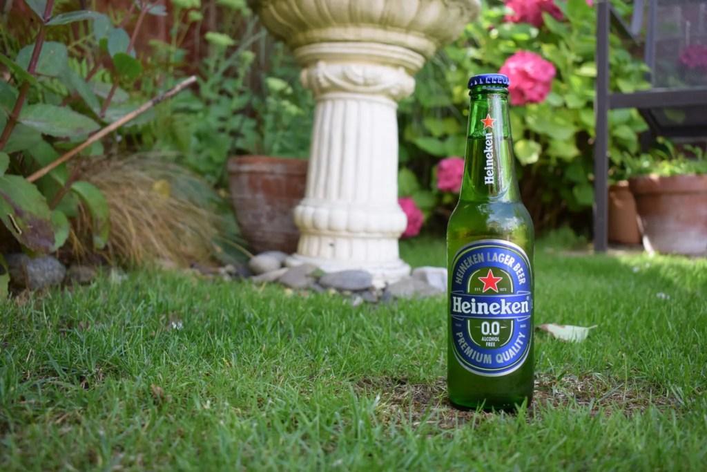 Bottle of Heineken 0.0 alcohol-free beer