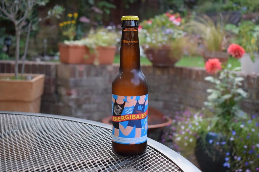 Energibajer alcohol-free beer bottle